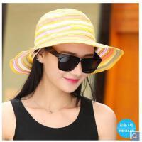 女可折叠太阳帽遮阳帽防晒帽大沿帽子女夏天韩版草帽沙滩帽休闲帽 可礼品卡支付
