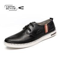 Camel Active/骆驼动感手工缝线皮鞋男韩版鞋松糕软底潮男板鞋