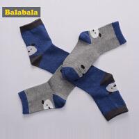 巴拉巴拉童装男童儿童袜子2017新款男孩小宝宝透气棉袜童袜两双装
