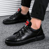 2019板鞋男鞋子潮鞋韩版潮流男生百搭休闲鞋男士黑鞋英伦小皮鞋男夏季百搭鞋