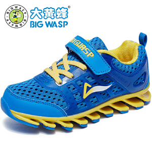大黄蜂男童鞋 夏秋款儿童运动鞋透气中童鞋防滑小孩鞋子6波鞋12岁