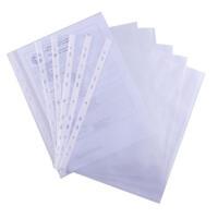 富得快文件保护套 100张/包 F8900A 加厚11孔文件袋 A4文件保护膜 单片 索引