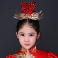 儿童皇冠发饰女童配饰手工发饰公主皇冠儿童发饰圣诞节演出头饰