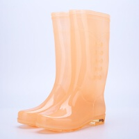 雨鞋女透明糖果时尚胶鞋女雨靴高筒时尚水鞋水靴