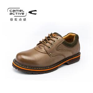Camel Active/骆驼动感男士休闲鞋大码工装鞋真皮大头鞋男低帮鞋