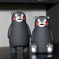 【官方授权】熊本熊保温杯3D水杯子日本原版正品KUMAMON酷MA萌玻璃款  GZ1211
