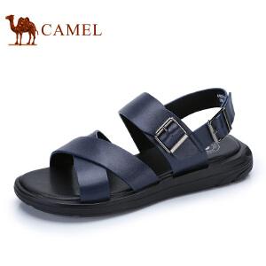 camel骆驼男鞋  夏季新品 凉鞋沙滩鞋子男士透气牛皮露趾凉鞋子