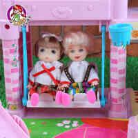 乐吉儿芭比娃娃套装大礼盒公主女孩生日礼物梦幻游乐场过家家玩具