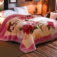 毛毯午睡毯子加厚双层婚庆冬季单双人盖毯空调毯10斤 200X230CM【 重9斤 】