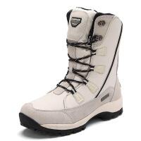 №【2019新款】冬天穿的户外雪地靴女中筒防水加绒棉靴东北棉鞋短靴