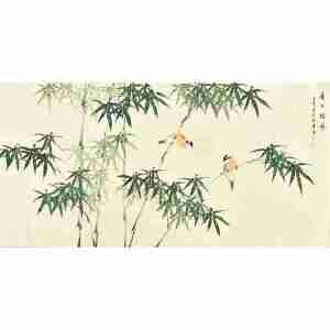 河南美术家协会会员许鲁四尺整张花鸟画gh04976