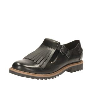 【香港现货】Clarks/其乐女鞋2017秋冬新款牛津流苏单鞋Griffin Mia专柜正品直邮