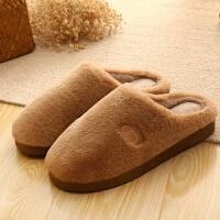 纯色棉拖鞋居家包跟加厚保暖防滑家居月子鞋学生情侣拖鞋包跟拖鞋