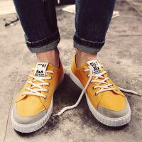 夏季韩版潮流男士休闲布鞋男鞋子青年学生百搭低帮板鞋帆布鞋男潮