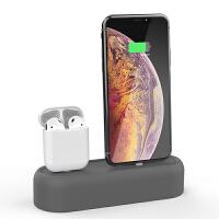 苹果耳机airpods充电底座iphone7/8/XS手机支架二合一