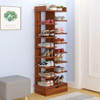 亿家达多层鞋架简易家用经济型省空间家里人仿实木色鞋柜门口鞋架
