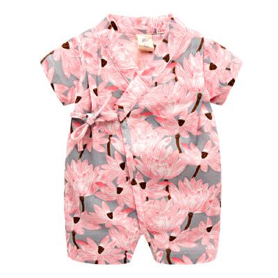 宝宝衣服棉纱女夏季新生儿连体衣1岁哈衣3个月婴儿蝴蝶衣睡衣夏装 发货周期:一般在付款后2-90天左右发货,具体发货时间请以与客服协商的时间为准