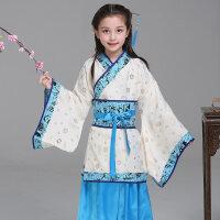六一儿童演出服古装汉服国学表演服装幼儿男女童三字经小学生书童