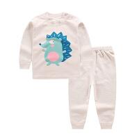婴儿彩棉秋衣套装纯棉春秋男女童装宝宝长袖儿童内衣小孩衣服