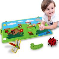 jollybaby 可水洗婴幼儿早教学习布书昆虫世界亲子粘贴互动布书 0-12个月宝宝益智玩具