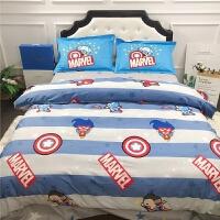 �棉�和�床上用品四件套卡通床�伪惶兹�棉公主�L女孩三件套 LF 漫威_ ��� 被套200*230床��230*245枕套4