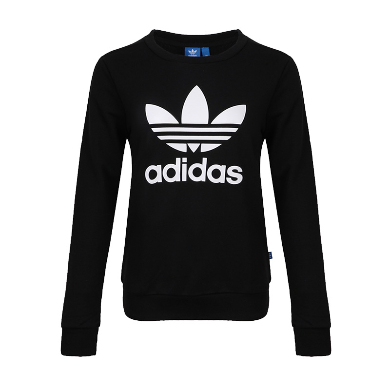 Adidas阿迪达斯女装 三叶草运动休闲卫衣套头衫 BP9490三叶草运动休闲卫衣套头衫