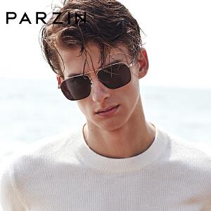 帕森偏光太阳镜 男士金属镜方形框司机开车驾驶镜潮墨镜新品 8174