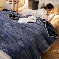 毛毯冬用床单人宿舍学生法兰绒珊瑚绒毯子冬季加厚盖毯被子