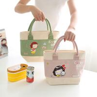 清新韩式手提加厚铝箔保温饭盒袋便当包午餐包上班上班带饭包