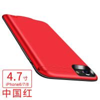 �O果6背�A充���iphone7�池8P�o�6s手�C�け�y磁吸式一�wplussp大容量快充移�与�源