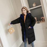 棉衣女中长款冬季棉袄加厚韩版宽松学生面包服外套
