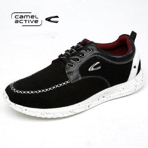 骆驼动感/Camel Active反绒休闲皮鞋运动潮流男士板鞋