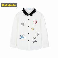 巴拉巴拉童装男童长袖衬衫秋装2017新款小童宝宝儿童衬衣英伦风潮