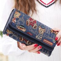 户外多功能翻盖 女士长款钱包 女韩版潮双盖 手拿包钱夹