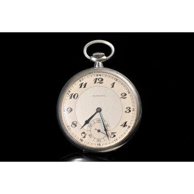 20世纪 欧洲PERFECTA银壳机械怀表