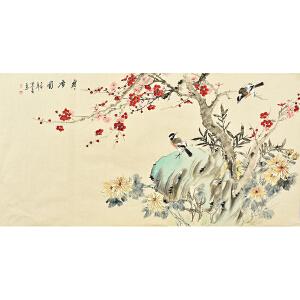 姜晓英四尺整张花鸟画gh02094