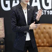 2018秋季男士中长款风衣男韩版修身潮男个性薄款外套休闲男装西服