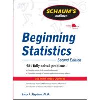 英文原版 初级统计纲要,*版 Schaum's Outline of Beginning Statistics