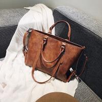 单肩斜挎包女士大包包2018新款复古时尚简约百搭韩版大容量手提包