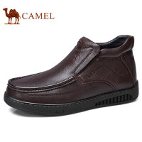 camel 骆驼男鞋 秋冬季经典款保暖舒适劲柔牛皮绒内里商务靴