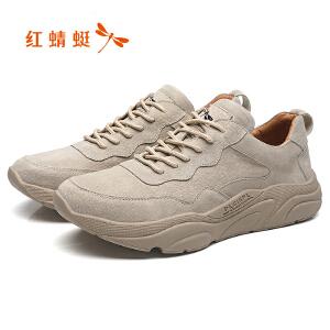 红蜻蜓男鞋2019新款男士运动休闲鞋百搭透气跑步鞋男板鞋C0191383