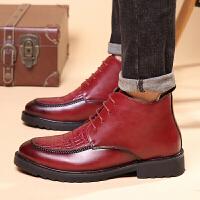 新款马丁男靴英伦潮流男士休闲高帮鳄鱼纹短皮鞋韩版靴马丁靴发型师尖头皮鞋