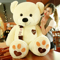 抱抱熊绒毛绒玩具泰迪熊猫公仔大熊洋娃娃布超大可爱生日礼物女孩