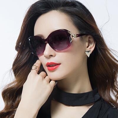 偏光太阳镜圆脸女士墨镜女潮明星款防紫外线眼镜
