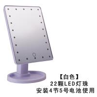 LED化妆镜带灯触屏台式灯方形梳妆镜大号欧式台灯公主镜便携镜子