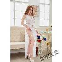 情趣女内衣薄纱制服玩性透明网纱睡裙白色睡裙 白色 均码