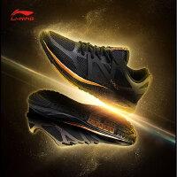 李宁跑步鞋男鞋新款光速减震耐磨防滑一体织晨跑夏季运动鞋ARHM117
