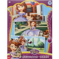 迪士尼拼图 苏菲亚小公主盒装三合一益智玩具(古部公主拼图28片+48片+88片)11DF1642147