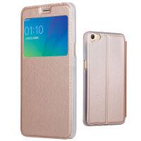 坚达 手机壳非智能皮套手机保护套 翻盖皮套 视窗保护套 适用于oppo R11/R11PLUS皮套