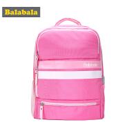 【2件5折】巴拉巴拉女童学生书包儿童双肩包秋装2017新款中大童减负童装背包